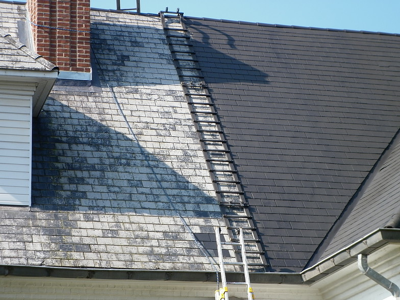 peinture sur toiture à Pontchateau, travaux réalisé par ar-peinture