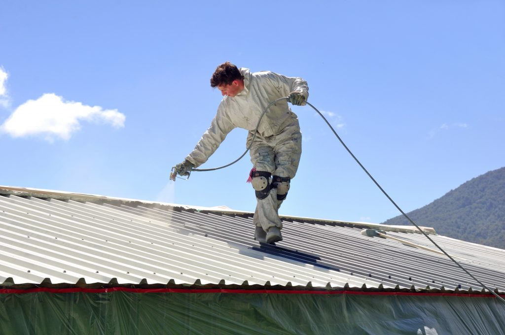 peinture sur toiture nantes par ar peinture