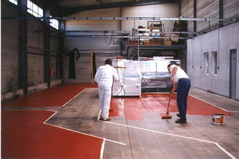 peinture sur sol à nantes en loire atlantique, travaux réalisé par ar-peinture