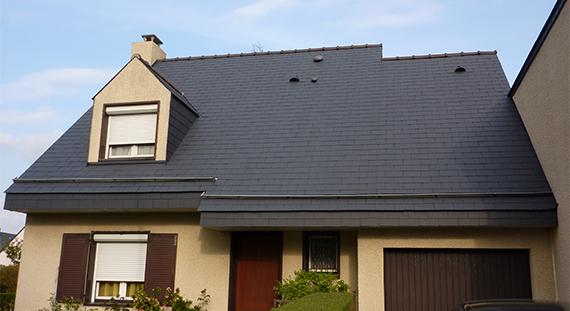 peinture sur toiture à Pontchateau en loire atlantique, travaux réalisé par ar-peinture